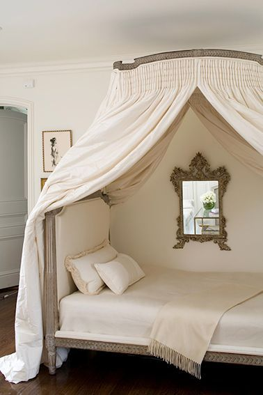 78 ideas about canopy bed curtains on pinterest canopy for Canopy over bed