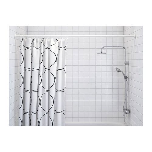 UDDGRUND Shower curtain IKEA The elastic sewn into the bottom edge adds weight to the curtain and assures that it hangs straight.