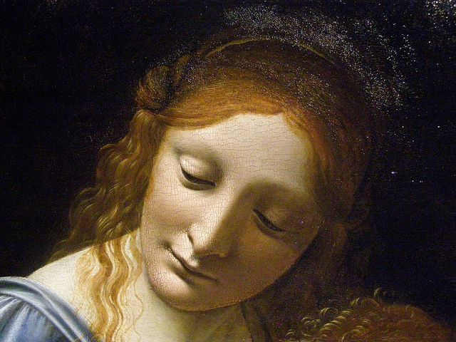 Giovanni Antonio Boltraffio, The Virgin and Child, c 1495, detail 2 | by DeBeer