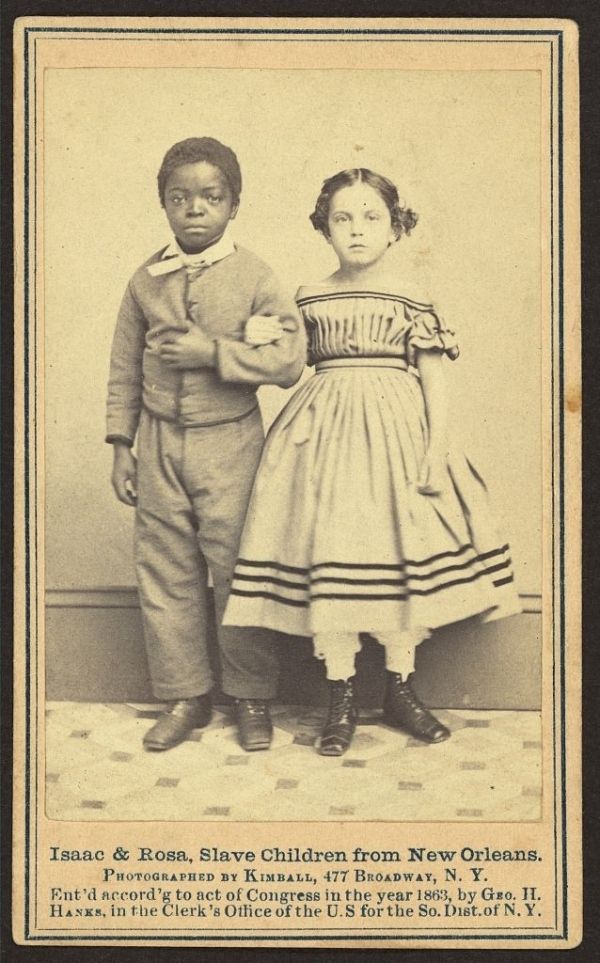 "Historic photos of ""white"" slaves from Occupied Louisiana, 1863 and 1864: These children were minority African Mulattoes and most states considered them legally Black for having 1/8th or more African ancestry. As a side note, Sally Hemings was 1/4th African so she and her and Thomas Jefferson's children would have had similar appearance. Racial intermingling, both consensual and non, was much more common in the pre-war South than many tend to believe and was not limited to slaves or the…"