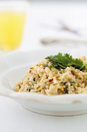 Rozgrzewające risotto z chili i imbirem