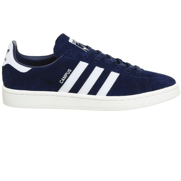 Campus Trainers by Adidas Supplied by Office ($93) ❤ liked on Polyvore featuring shoes, sneakers, blue, 1980s shoes, adidas shoes, 80s footwear, blue shoes and adidas footwear