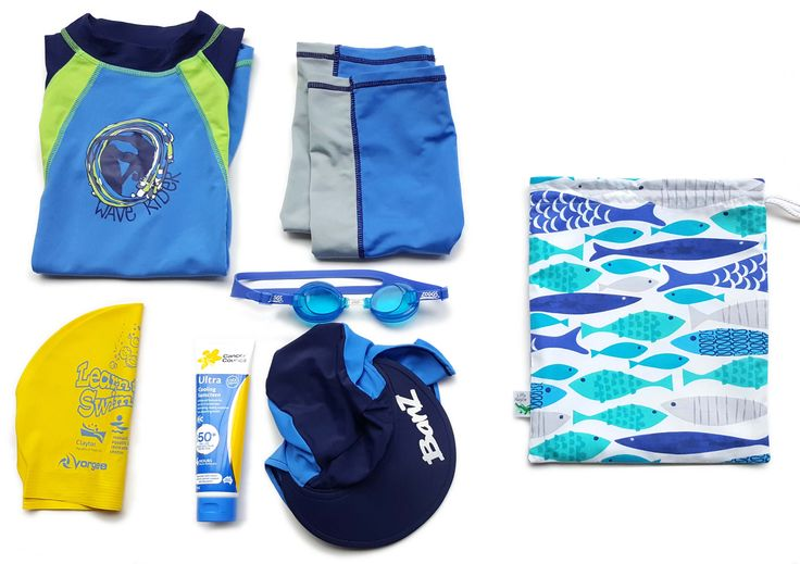 Small waterproof bags. They hold a lot of stuff for the pool or beach! Made by Little Alligator