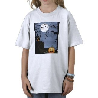 Halloween Haunted House At Night Tee Shirts #haunted click image to my site