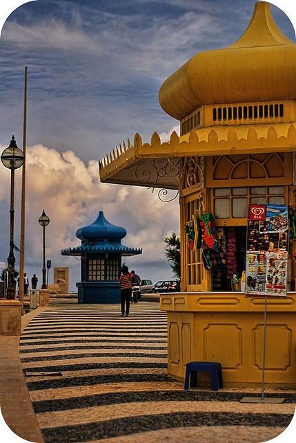 Quiosques, (stands) Foz do Arelho, Portugal Onde temos a nossa casa de Praia.