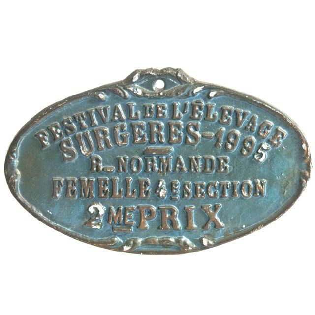 Image of Vintage French Cast Aluminum Award Plaque