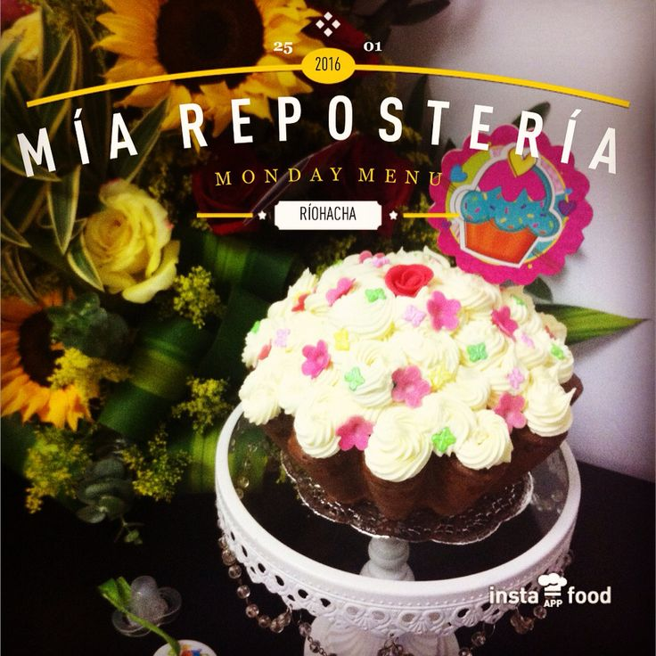 Súper Cupcakes en crema flores