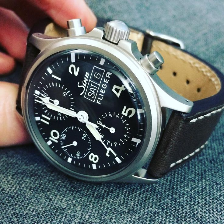356 Flieger #chronograph 38.5mm acrylic crystal. What's not to love? #Sinn #Watches