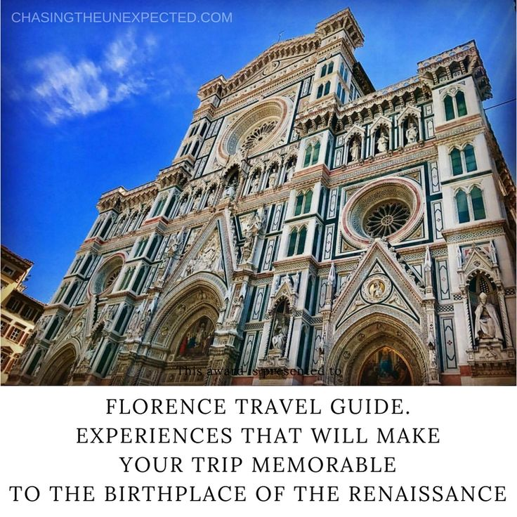 Enjoy your trip with our tips on restaurants, museums, cathedrals and other landmarks in Italy's culture capital, Florence, the birthplace of Renaissance. There are so many things to see and do in Florence, which is why a practical guide to help you every step of the way comes very handy. Make your travel memorable with our list of Florence experiences. #florence #Italy