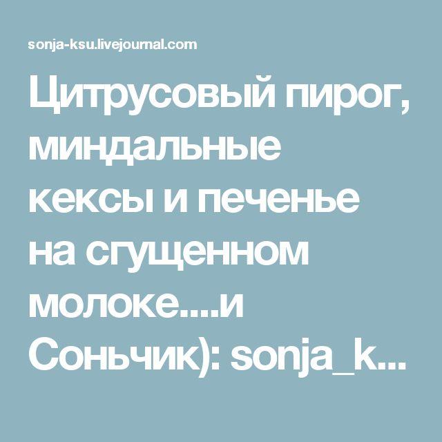 Цитрусовый пирог, миндальные кексы и печенье на сгущенном молоке....и Соньчик): sonja_ksu