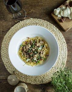 Skinkpasta med gorgonzola - passar både till vardag och fest