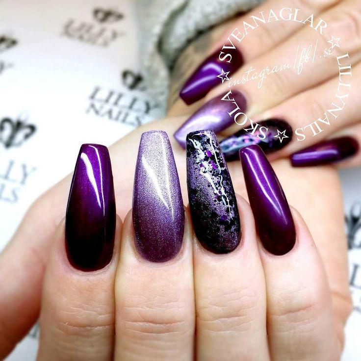 Purple Glam and Berry Purple Gel Polish from Lilly Nails @lillynailsab www.lillynails.se . . #sveanaglar#lillynails#nails#nailart#naglar#gelnails#gelenaglar#gelpolish#gelelack#acrylicnails#akrylnaglar#instanails#nailstagram#nailtech#nailswag#nailprodigy#nailsmagazine#nailit#nailwow#nailinspo#nailinspiration#tmblrfeature#glitter#hudabeauty#ghmanicure#scra2ch#purple by sveanaglar