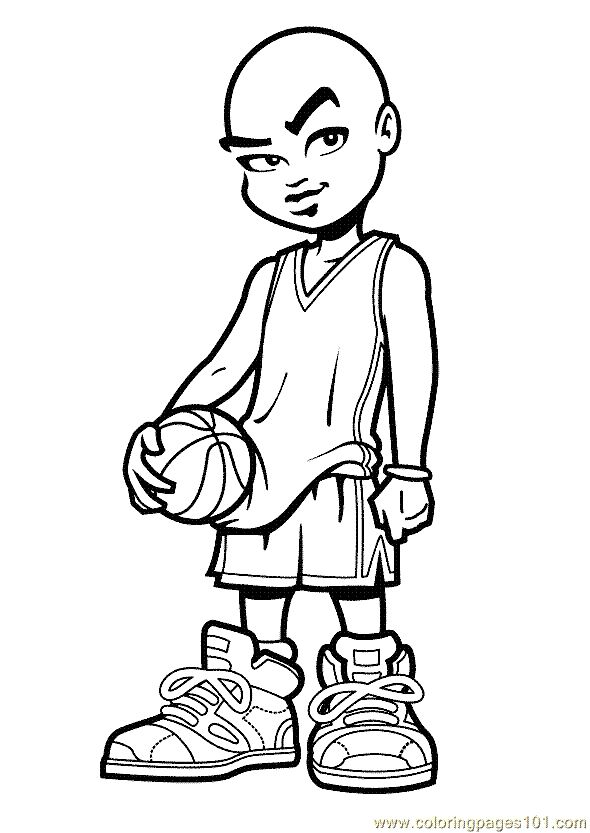 basketball player coloring pages - photo#27