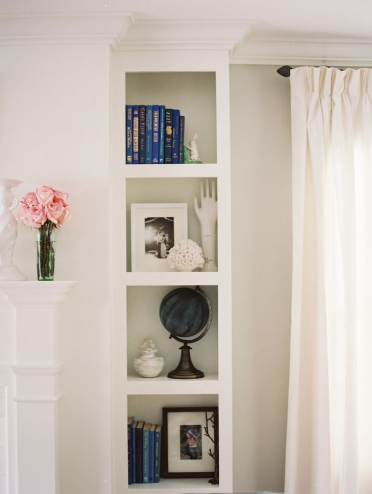 Bookshelf styling from Candace of Lovestru.ck || http://www.stylemepretty.com