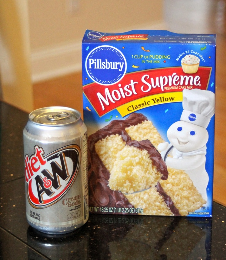 Boxed Cake Mix With Diet Soda