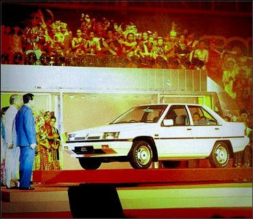 "The Launch of Malaysia's first car ""The Proton Saga"" by then PM Datuk Seri Dr. Mahathir Mohamad - 01 September 1985."