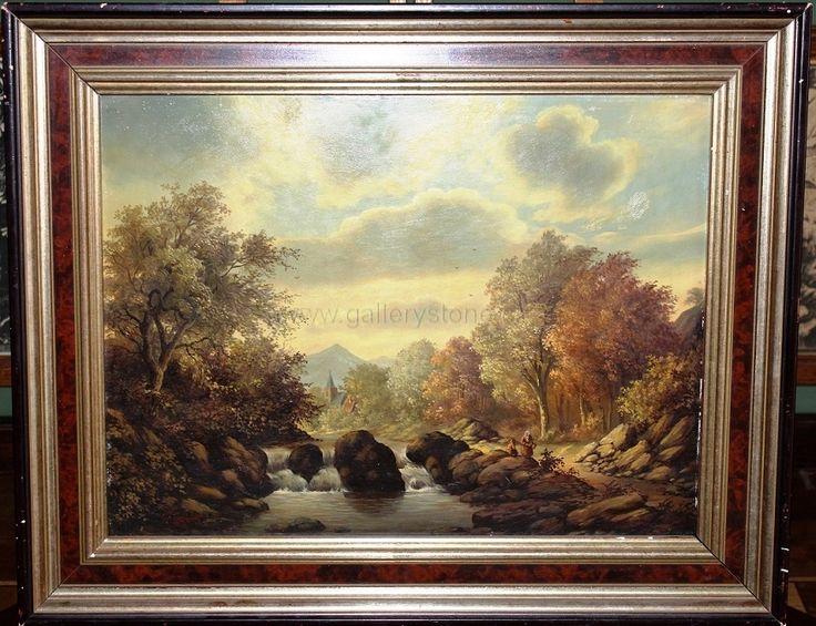 Skála František ( 1817 - ) - Odpočinek - olej na dřevěné desce - 51x41