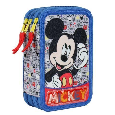 Mickey Mouse - Třípatrový školní penál s výbavou