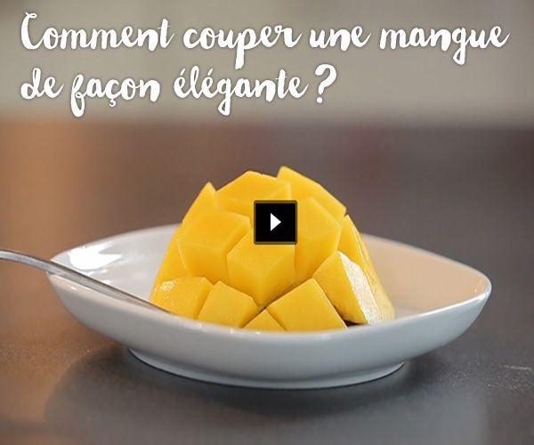 Astuces cuisine couper une mangue vid os et comment - Comment couper des parties d une video ...