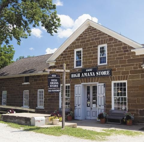 The historic Amana Colonies—and a easy afternoon drive through the country—await just a few miles from busy Interstate-80.