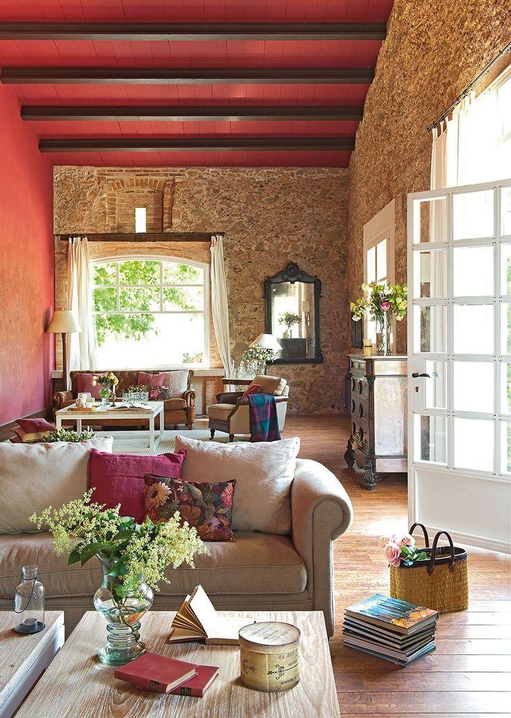 interiores campo vigas decorativas ventanales techos salones rsticos juegos estilo toscano