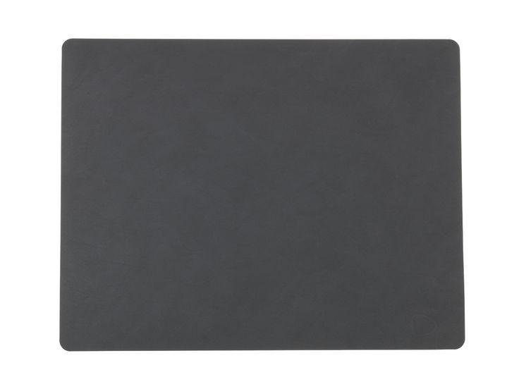 LindDNA Tischset Square in schwarz aus recyceltem Leder - NEU bei #KONTOR1710