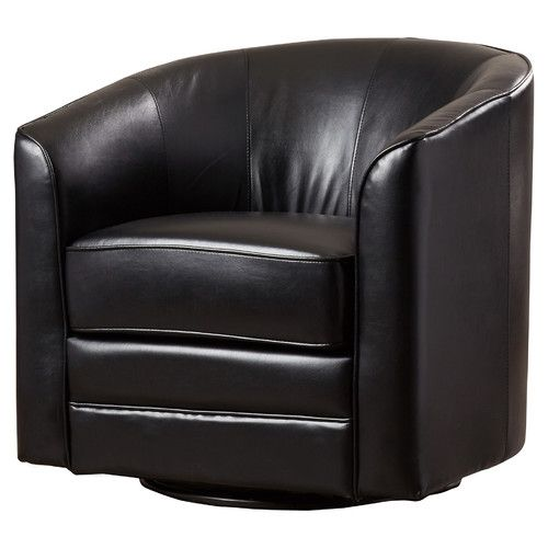 Found it at AllModern - Wells Swivel Barrel Chair