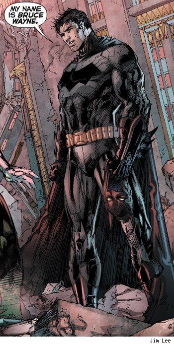 """My name is Bruce Wayne."" Batman by Jim Lee"