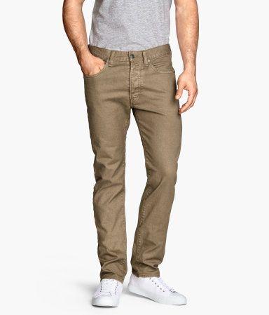 Jeans Slim Fit in Dark Beige | H&M US