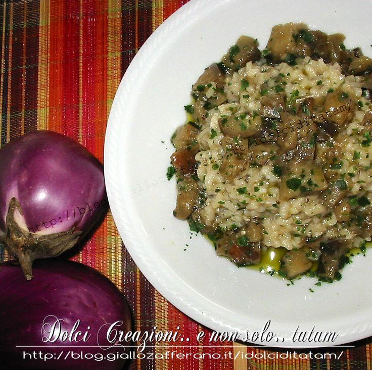 Risotto alle Melanzane | ricetta completa | ricetta vegetariana