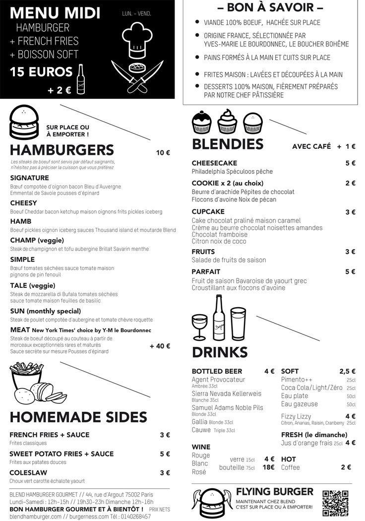 Carte / Blend Hamburger