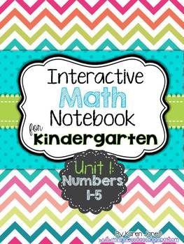 Interactive Math Notebook for Kindergarten! {Unit 1: Numbers 1-5} My kids LOVE their math notebook! #TpT