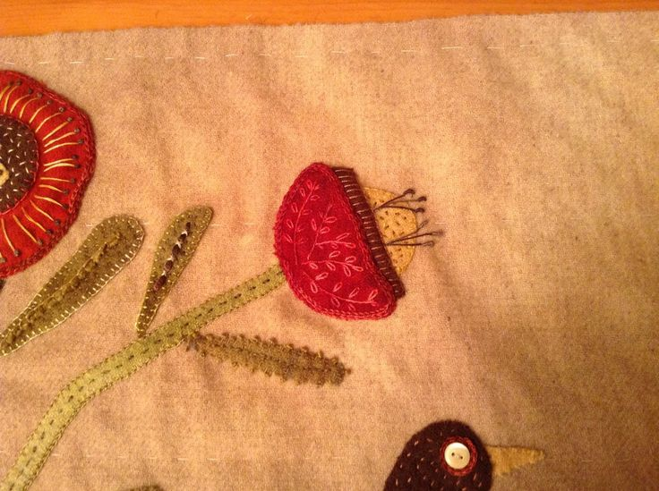 575 Best Images About Wool Applique On Pinterest Sewing