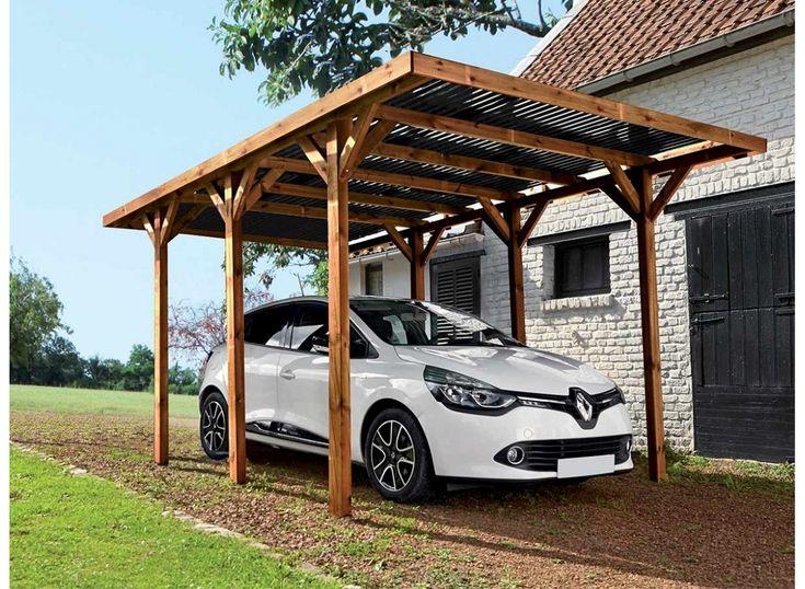 Carport en bois traité Enzo 15,72 m² Carport bois