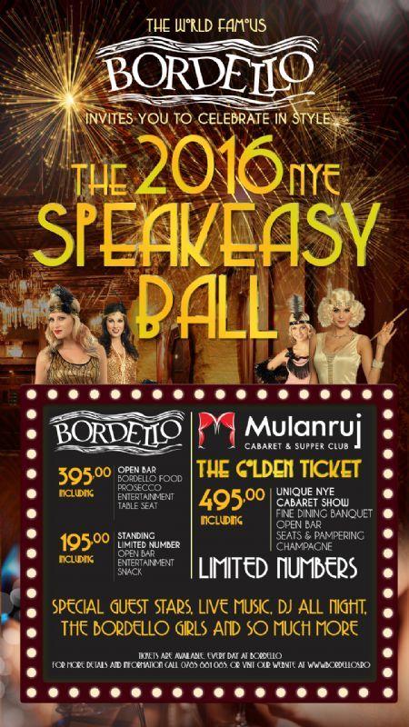 Joi, 31 Decembrie 2015, ora 21:00, Mulanruj Dining Theatre, Bucuresti