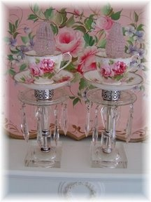 Pretty teacup candle holders