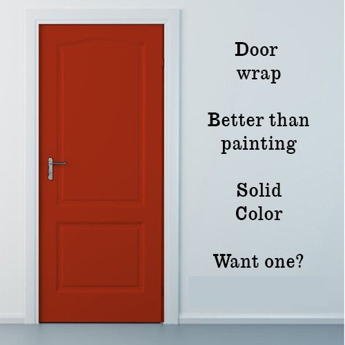 Aurora Orange Vinyl Door Wrap, Refrigerator Wrap, Cabinets Wrap And More.