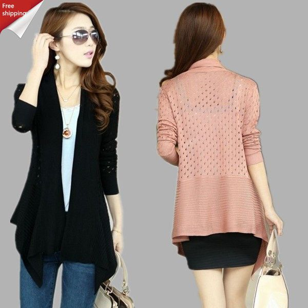 Find More Cardigans Information about 2014 new ! long sections Slim hollow thin coat shawl cardigan sweater Blouse,High Quality blouse collar,China sweater xxl Suppliers, Cheap sweater angora from Jianhang trade on Aliexpress.com