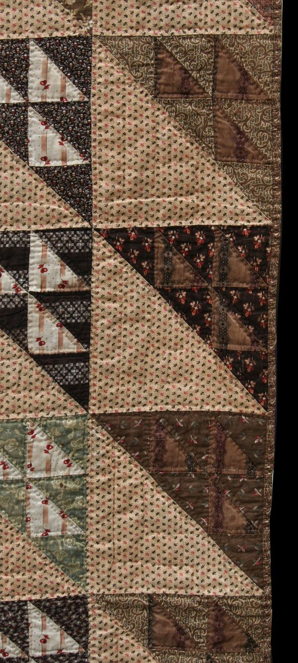 birds in the air | The Quilt Complex -- note plaids, geometries, in subdued colours.