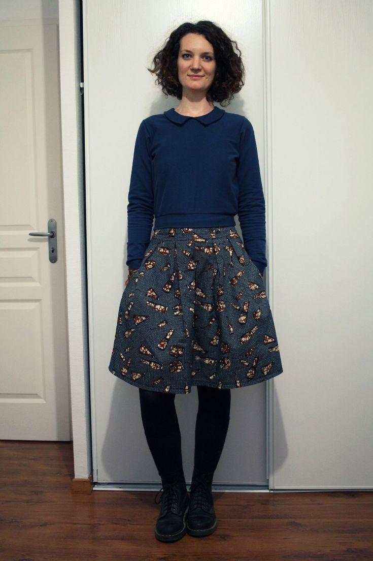 Jupe Chardon et Sweat Ondée - Deer&Doe - Chardon Skirt and Ondee Sweater