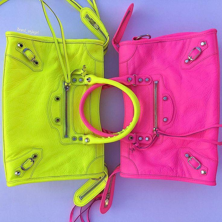 balenciaga neon bag