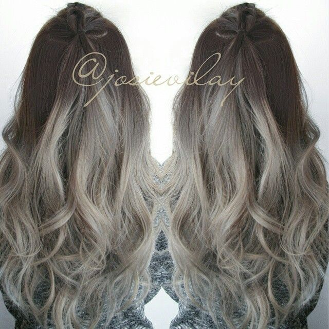 brown hair styles i so want gray hair beautiful hair colors and styles 3066