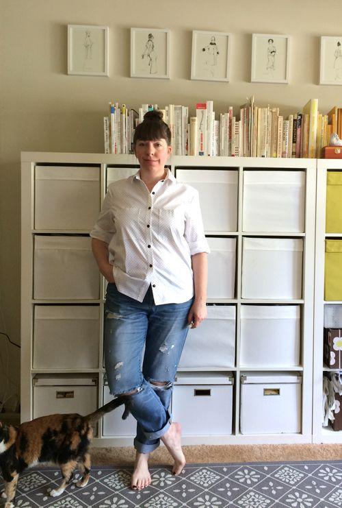 Wardrobe Architect- sewn pieces- Grainline Archer button-down shirt