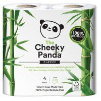 The Cheeky Panda FSC Bamboo Toilet Tissue - 4 Rolls | Natural Collection £2.49