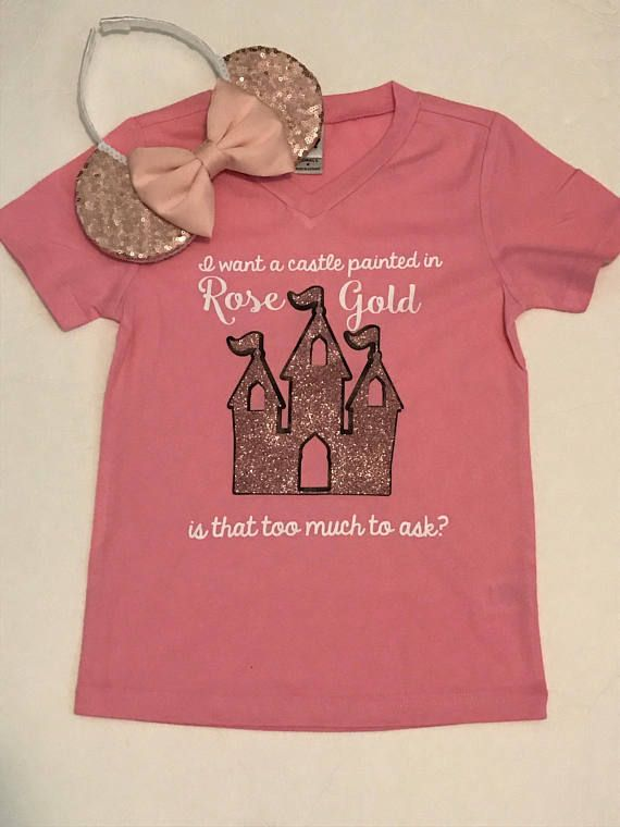 e09068a9b Graphic Tees // I just want a castle painted in rose gold | Hazel ...