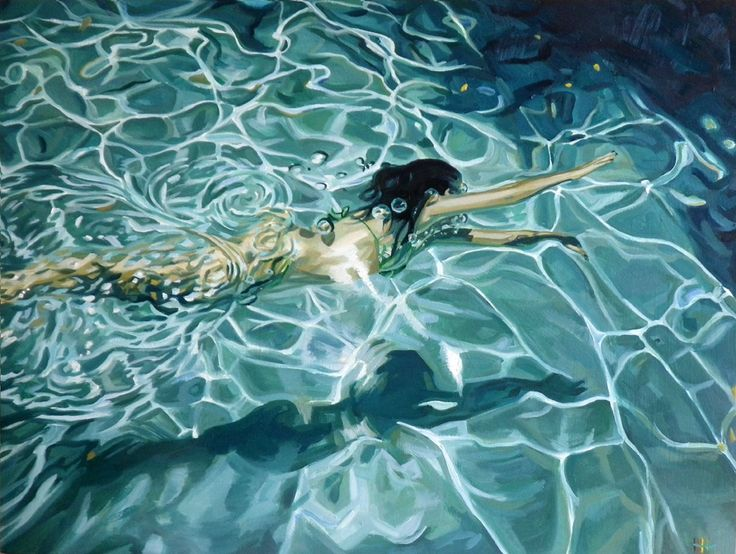 "Heather Horton Artwork: ""Surfacing"": The Swimming Paintings"