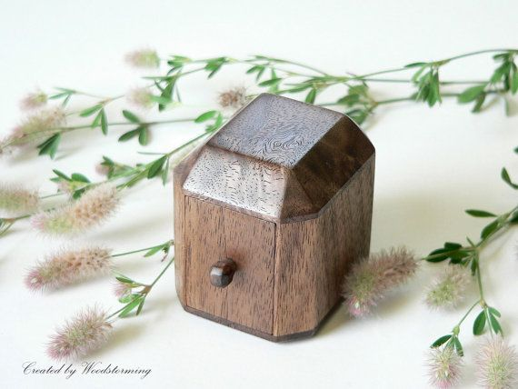 Unique engagement ring box wood ring box engagement box