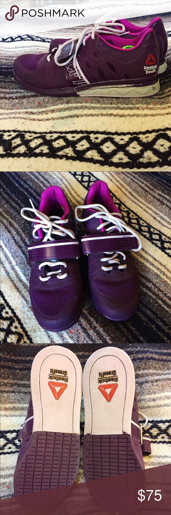 Reebok Crossfit lifting shoes Great lifting shoes in a cute purple color. In great condition, only worn a couple of times. CF74 Reebok Shoes Sneakers