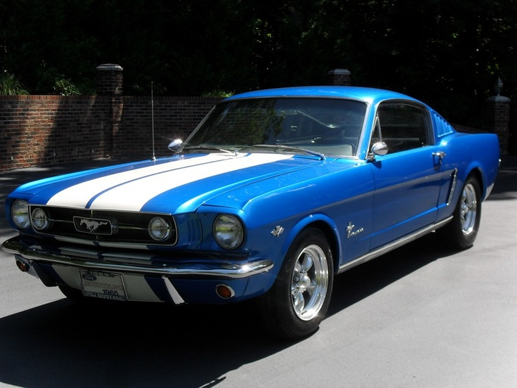 1965 Ford Mustang Fastback 2+2 Blue, for sale in United States