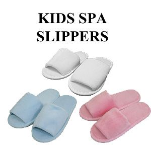 Kids Spa Slippers cheap in bulk  (this website has robes, slippers, and head bands)